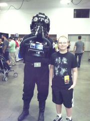 Chris meets Tie Fighter